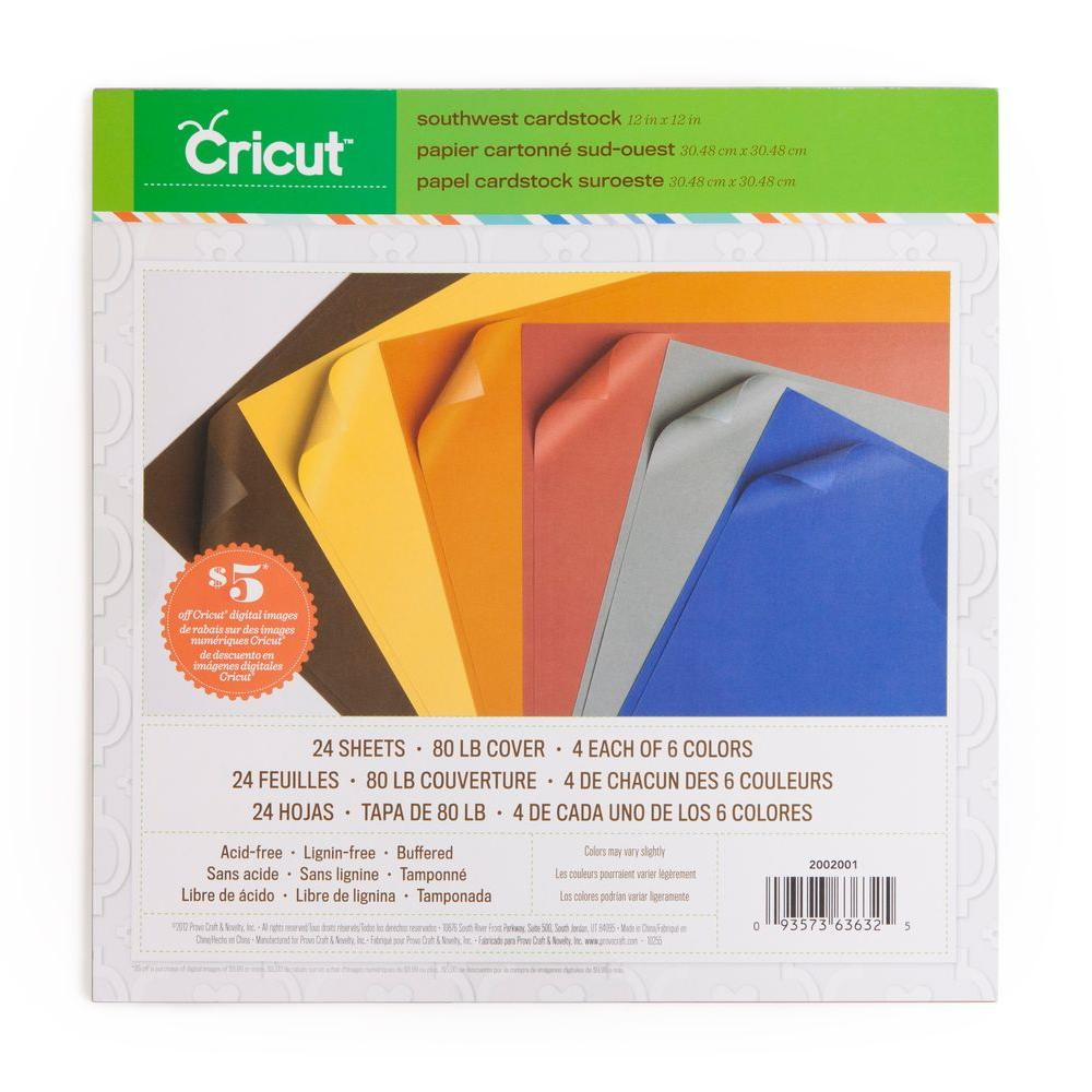 Cricut 12 in. x 12 in. Cardstock Southwest (3-Pack)-DISCONTINUED