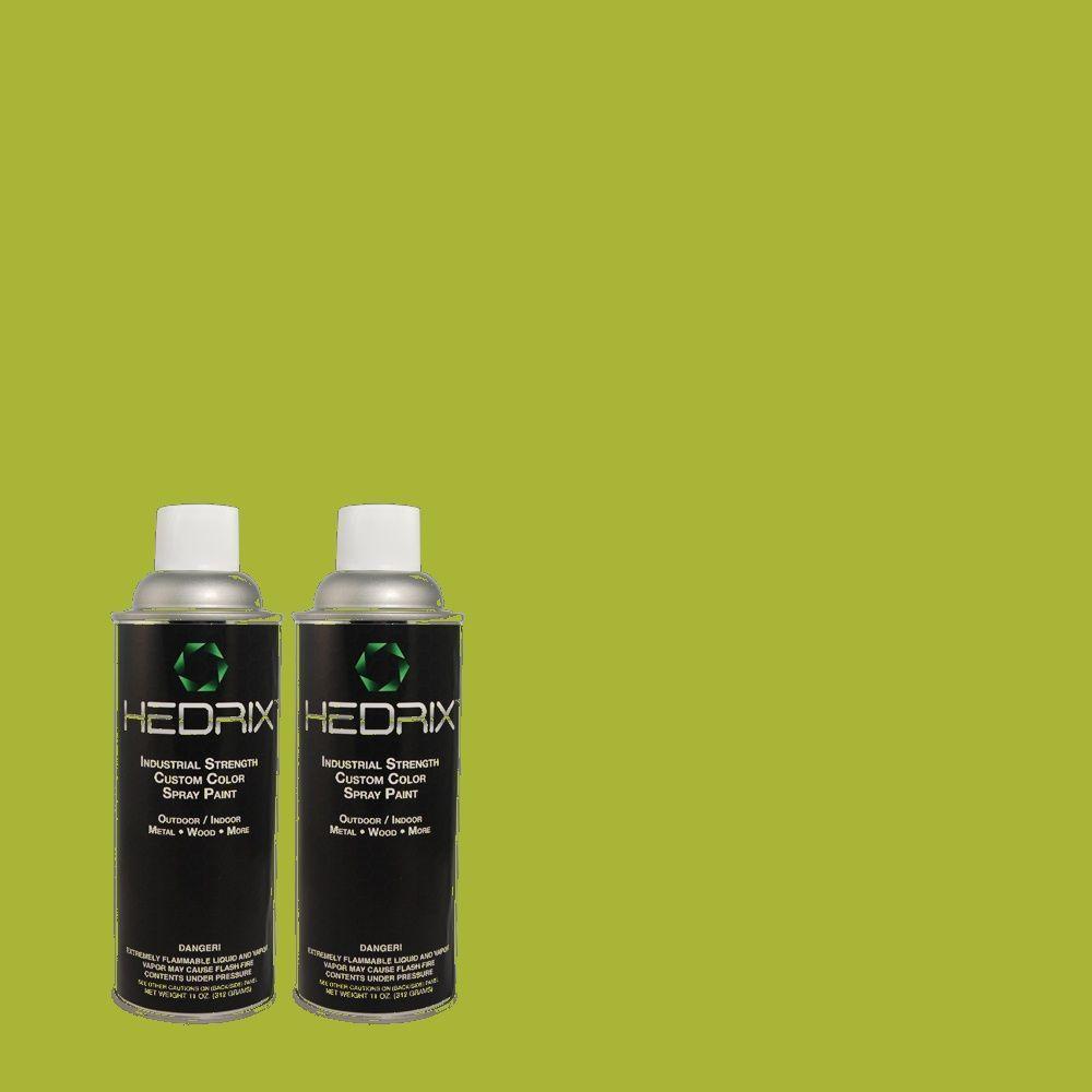 Hedrix 11 oz. Match of 410B-7 Bamboo Leaf Semi-Gloss Custom Spray Paint (2-Pack)