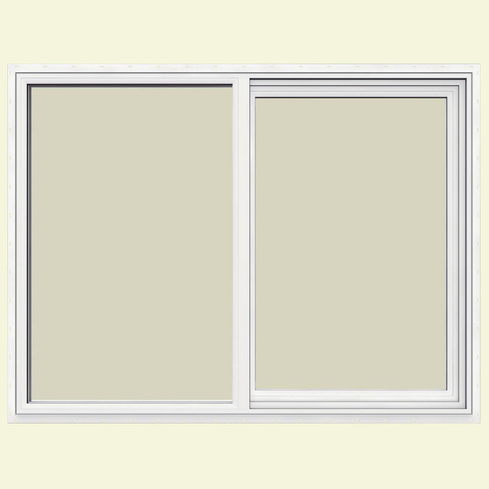 JELD-WEN 47.5 in. x 35.5 in. V-1500 Series Left-Hand Sliding Vinyl Window - White