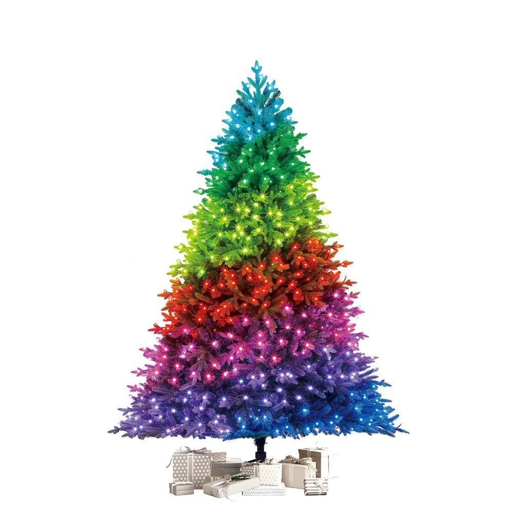 Twinkly Twinkly 7.5 ft. Pre-Lit LED Swiss Mountain Spruce Artificial Christmas Tree with 600 App Lights