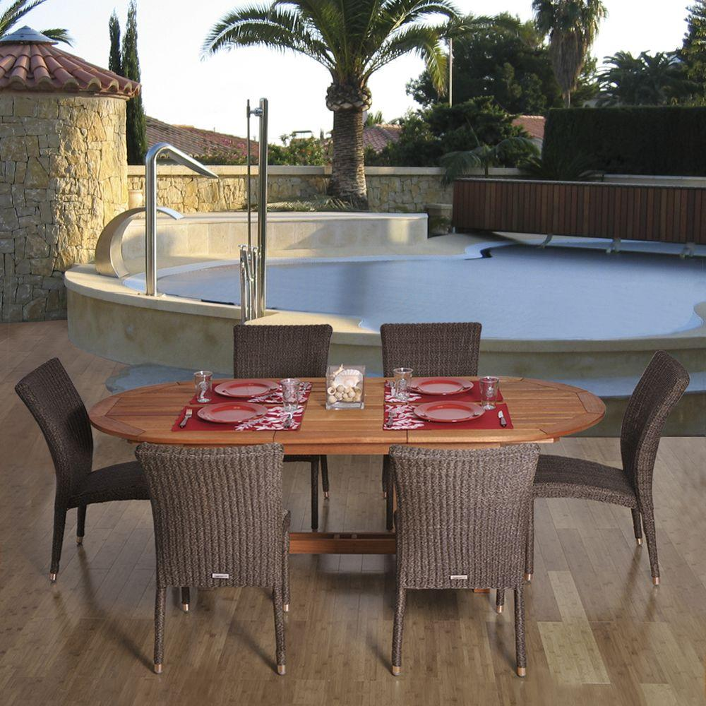 Amazonia Lemans 7 Piece Patio Dining Set Lemans Set The