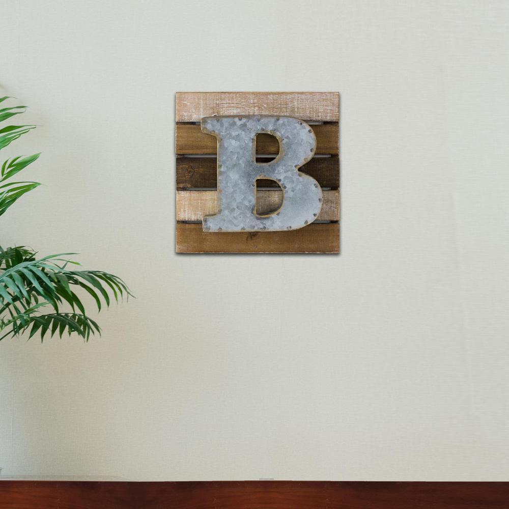 Crystal Art Gallery Metal on Wood Rustic Letter Block \