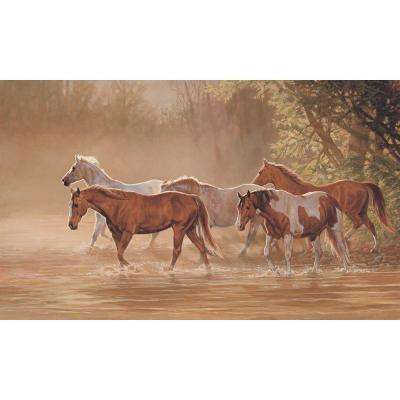 15 ft. x 9 ft. Misty River Wall Mural