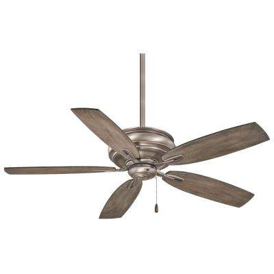 Timeless 54 in. Indoor Burnished Nickel Ceiling Fan