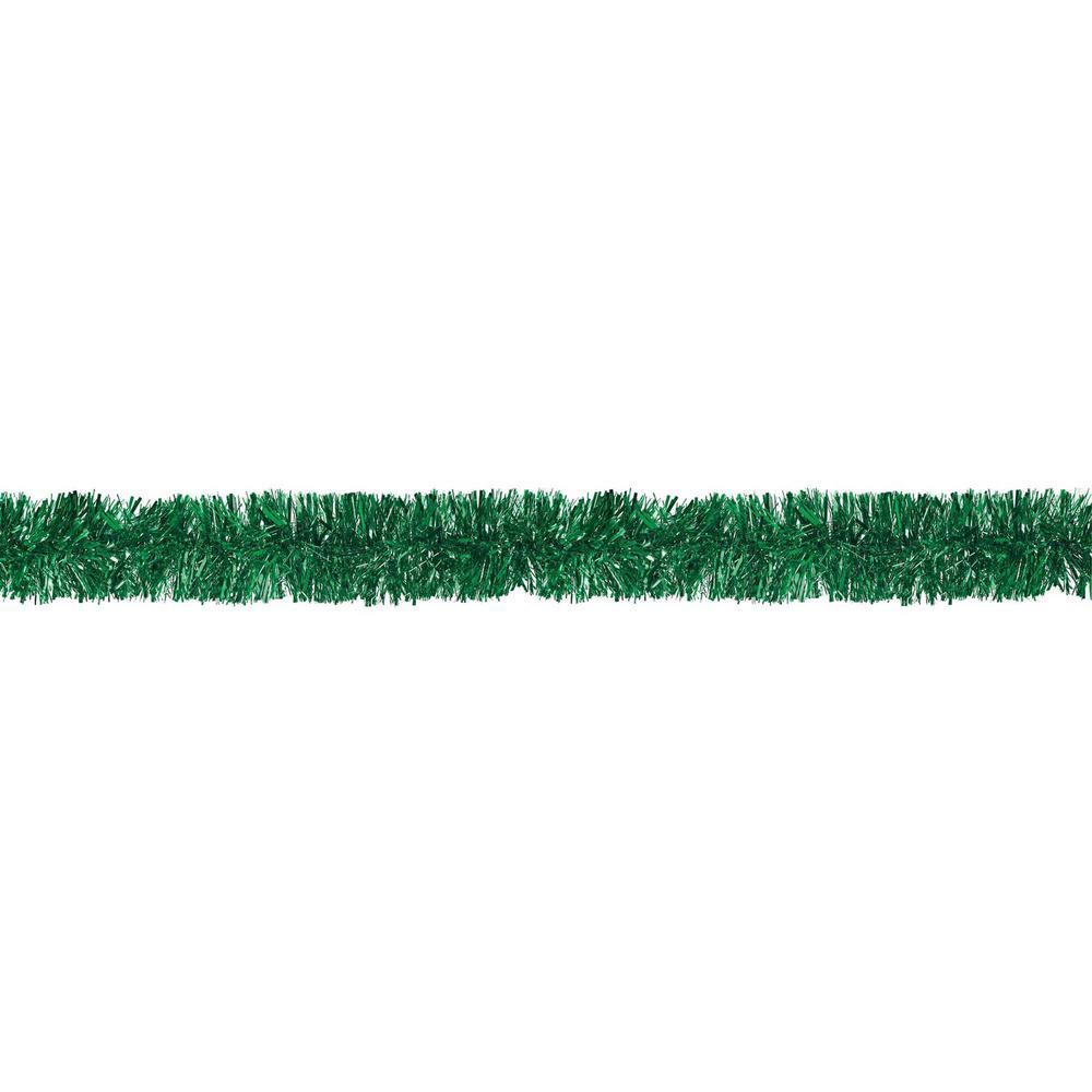 9 ft. Green Tinsel Boa Garland (2-Pack)