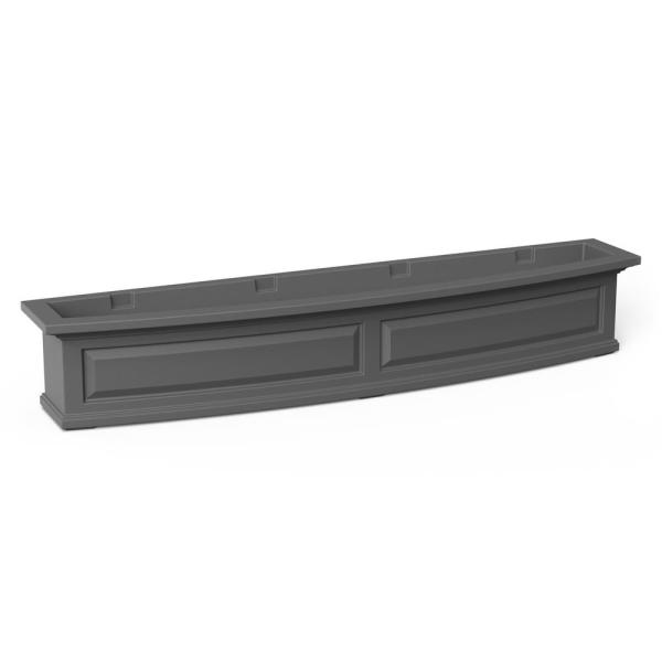 60 in. x 11.5 in. Graphite Grey Plastic Window Box
