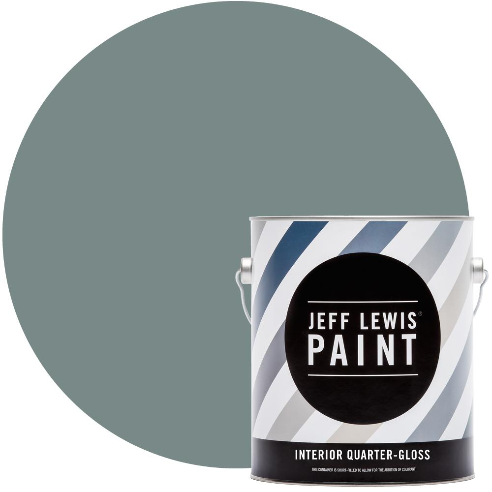 Jeff Lewis 1 gal. #311 Saltwater Quarter-Gloss Interior Paint