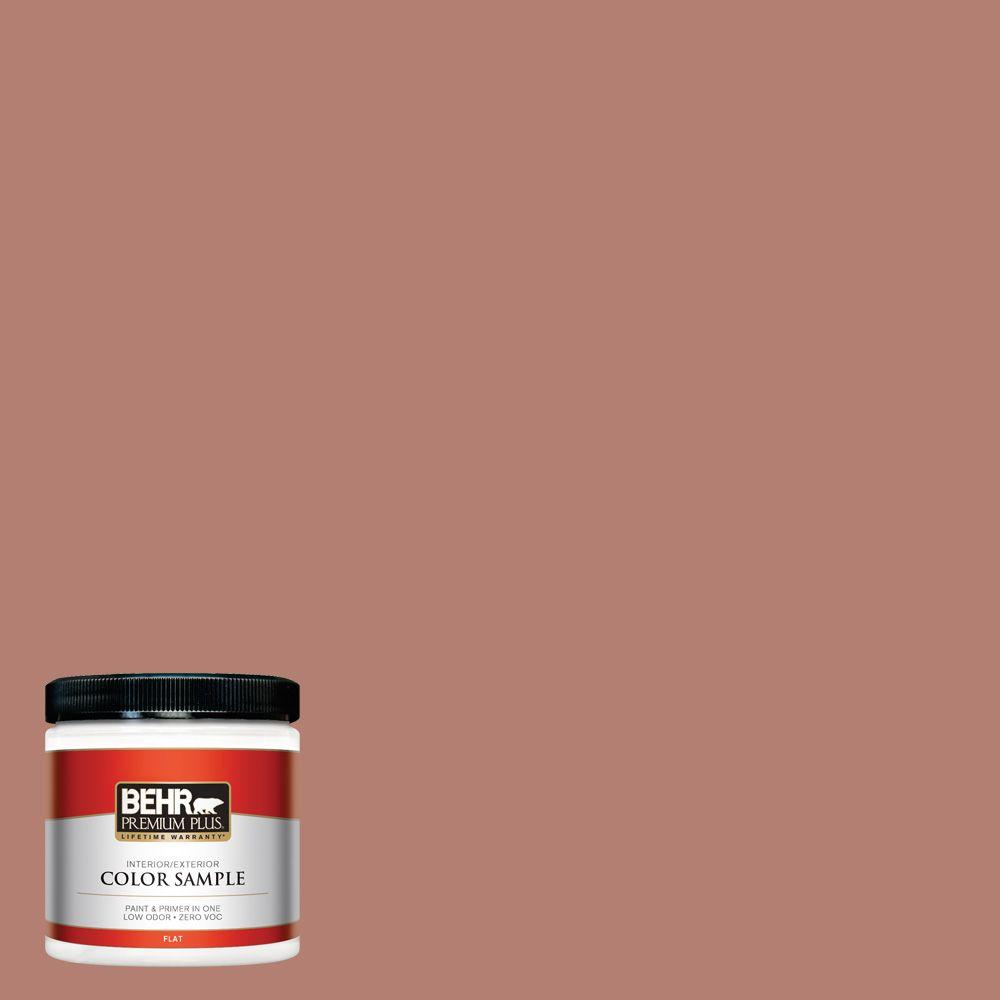 Ppg timeless 8 oz. #hdppgo12 clay pot flat interior/exterior paint.