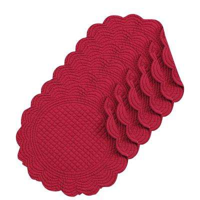 Burgundy Round Placemat (Set of 6)