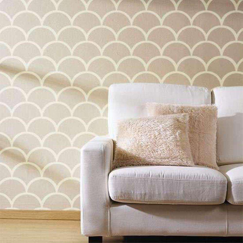 Stencil Ease 19 5 In X 19 5 In Scales Wall Painting Stencil