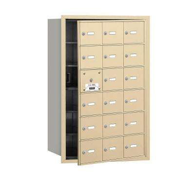 Sandstone USPS Access Front Loading 4B Plus Horizontal Mailbox with 18A Doors (17 Usable)