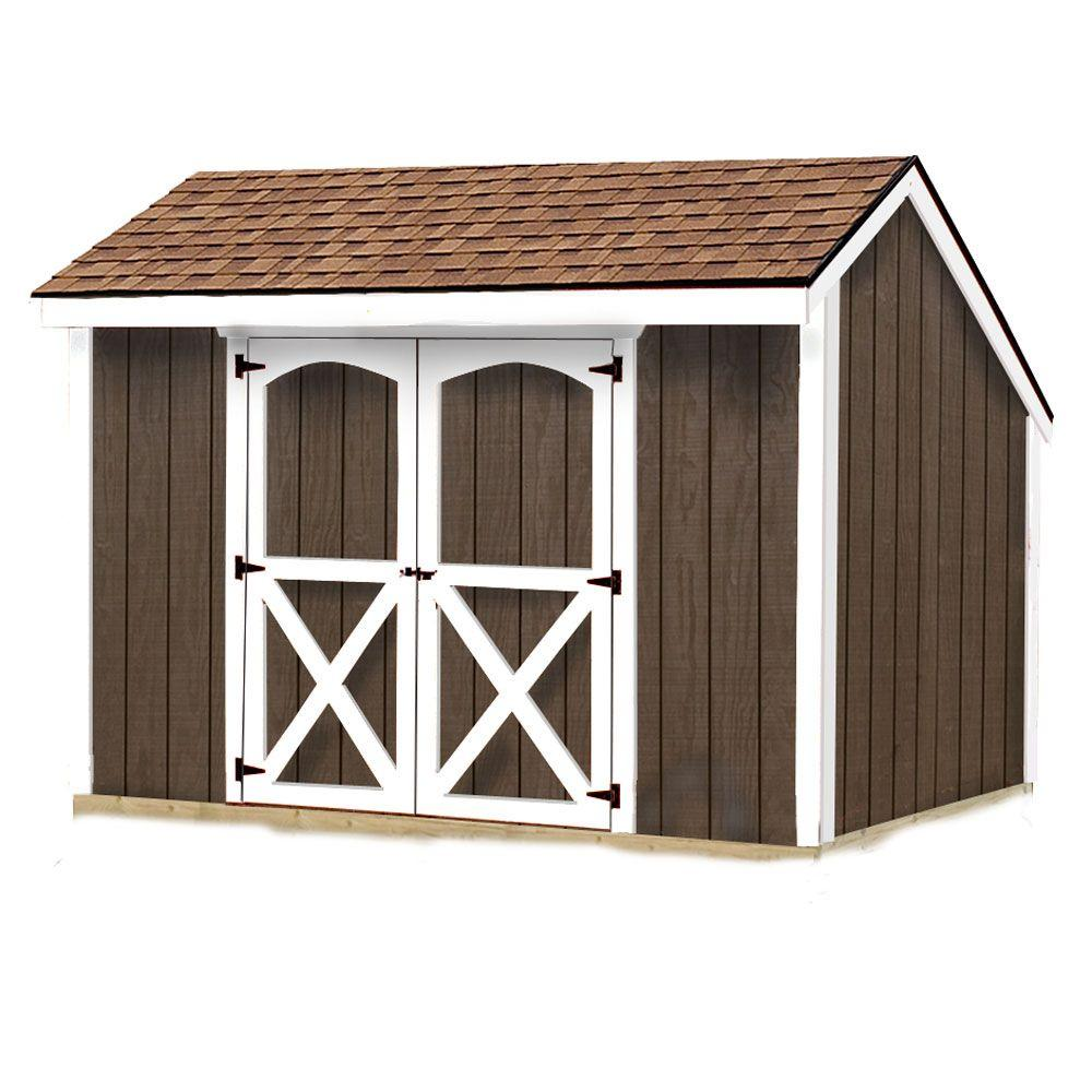 Best Barns Aspen 8 ft. x 10 ft. Wood Storage Shed Kit with Floor