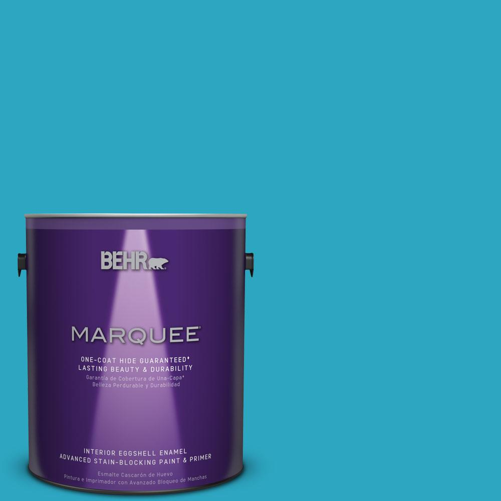 Perfect #MQ4 52 Gulf Waters Eggshell Enamel One Coat Hide Interior Paint And Primer  In One 245401   The Home Depot