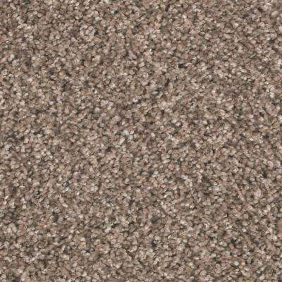 Carpet Sample - Maisie II - Color Taupe Essence Texture 8 in. x 8 in.