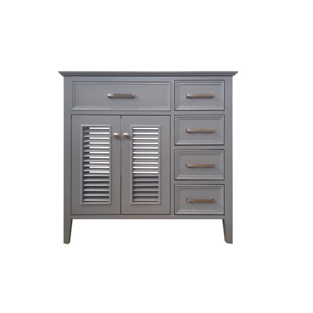 Kensington 37 in. Bath Vanity Cabinet Only in Grey