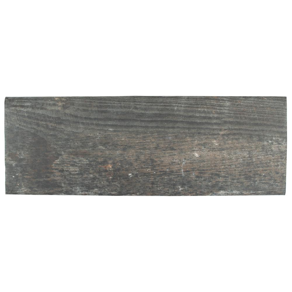MerolaTile Merola Tile Tech-Rail Teak 8-1/4 in. x 23-3/8 in. Porcelain Floor and Wall Tile (8.37 sq. ft. / case), Teak / Low Sheen