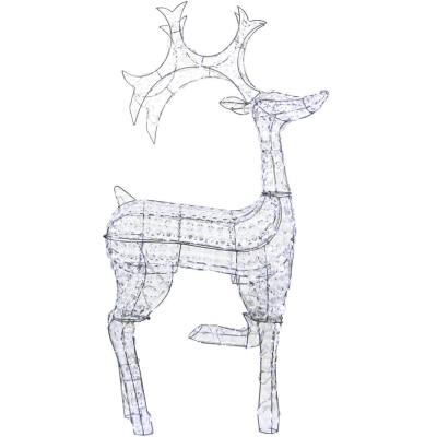 53 in. Christmas Reindeer with Lights