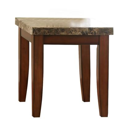 Montibello Spanish Brown Marble End Table