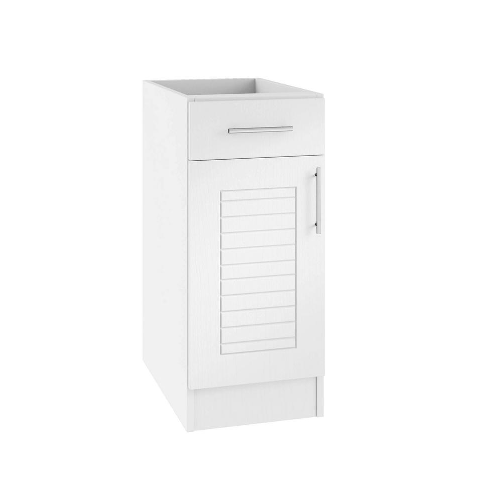 Assembled 12x34.5x24 in. Key West Island Outdoor Kitchen Base Cabinet with
