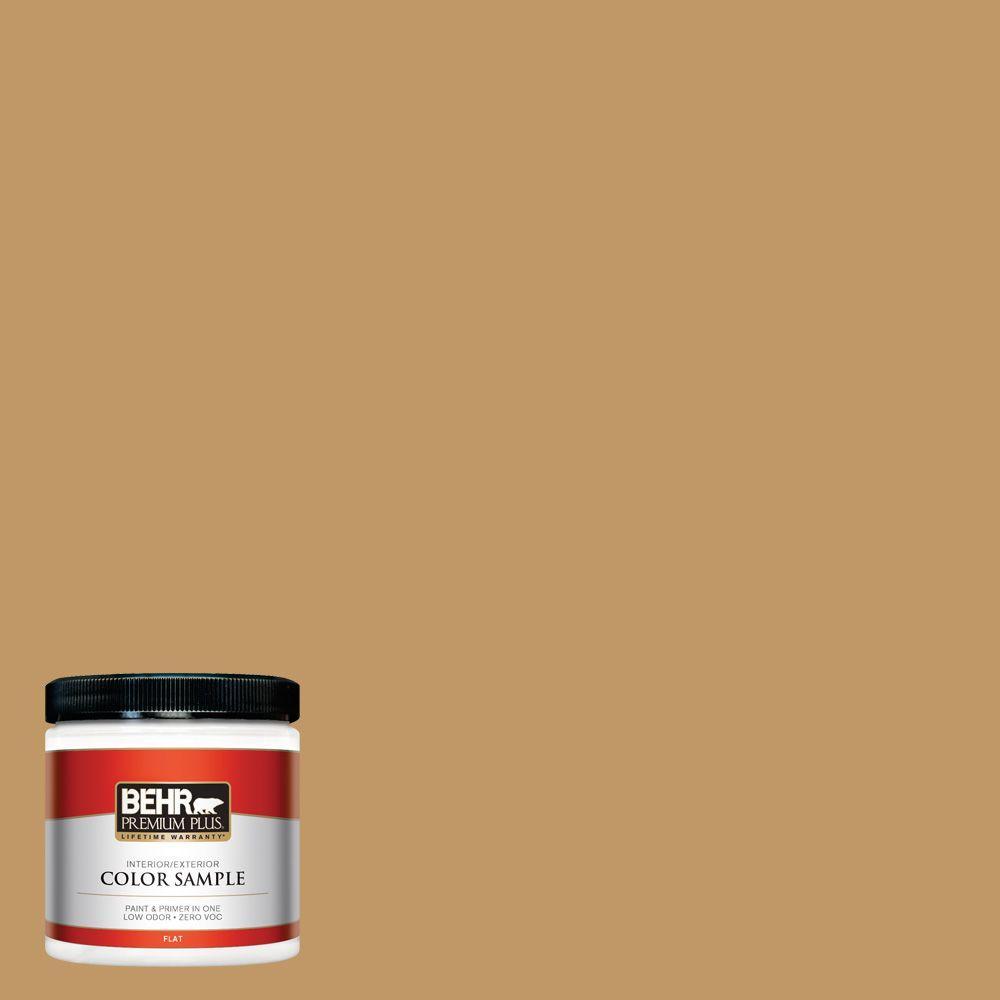 BEHR Premium Plus 8 oz. #310F-5 Donegal Tweed Flat Interior/Exterior Paint and Primer in One Sample