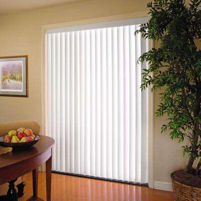 Crown-Cottage White 3.5 in. Vertical Blind - 104 in. W x 84 in. L