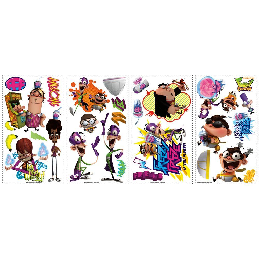 RoomMates Fanboy and Chum Chum Peel and Stick Wall Decals