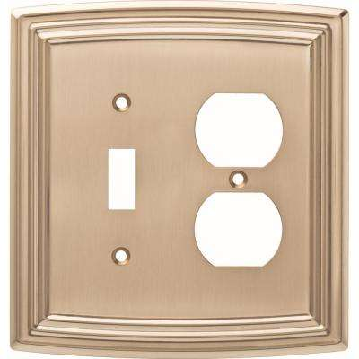 Emery Decorative Light Switch and Duplex Outlet Cover, Champagne Bronze