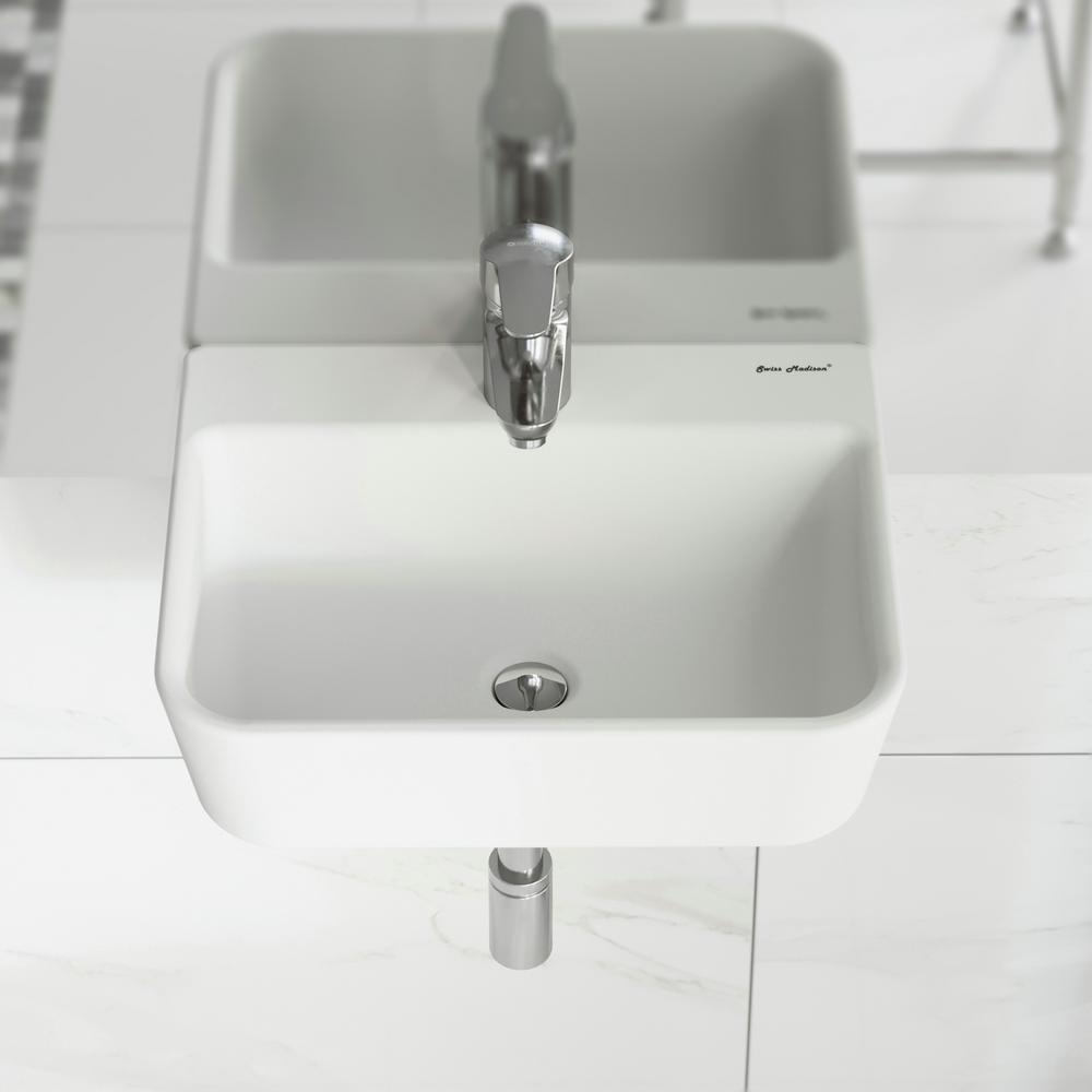 Swiss Madison St. Tropez Wall Mount Sink in White