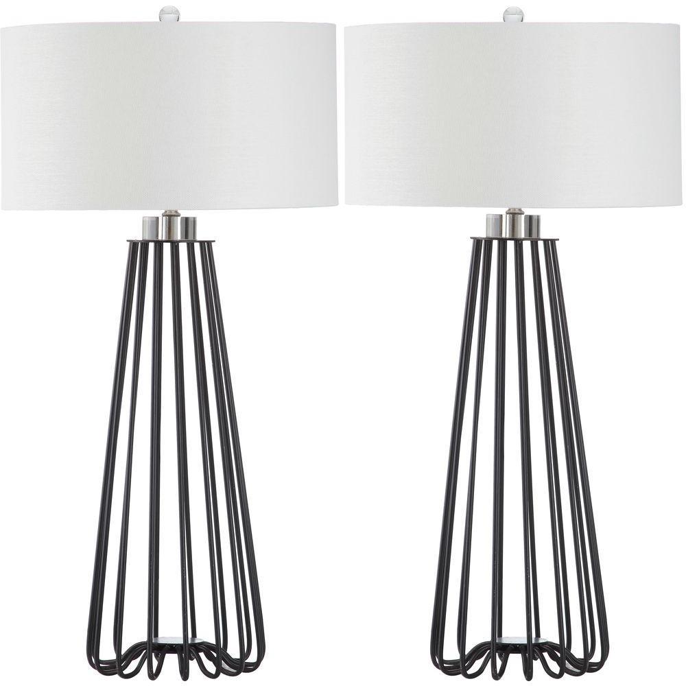 Estill 33 in. Black Table Lamp (Set of 2)