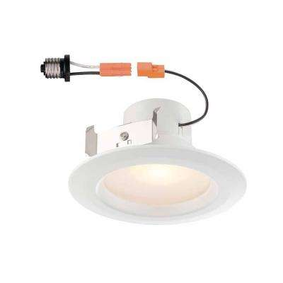 4 in. White Recessed LED Trim with 90 CRI, 2700K