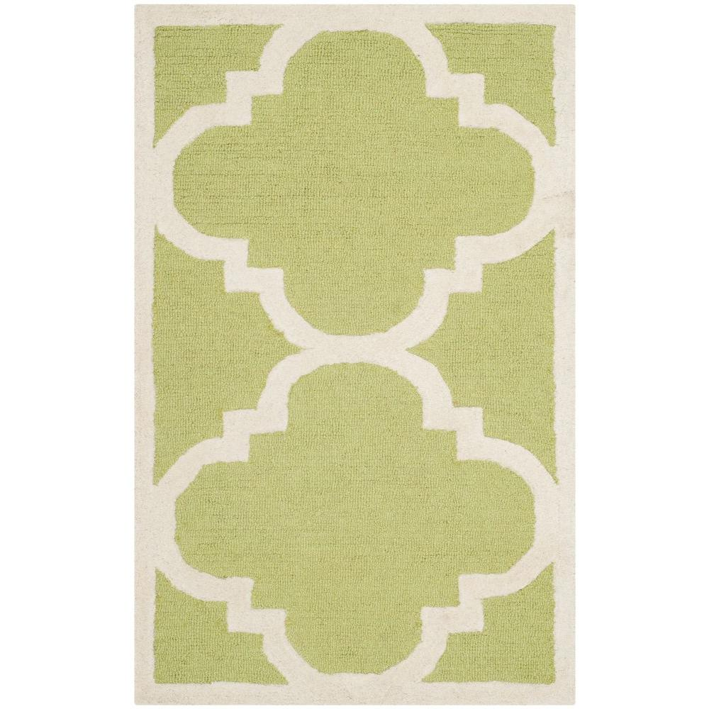 Cambridge Green/Ivory 3 ft. x 5 ft. Area Rug