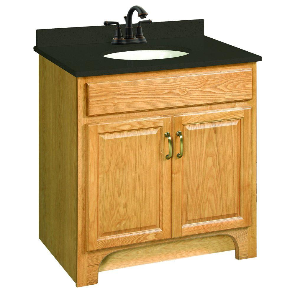 Attirant Design House Richland 30 In. W X 21 In. D Two Door Unassembled Vanity  Cabinet Only In Nutmeg Oak 530394   The Home Depot