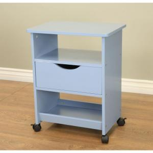 MegaHome All-Purpose 3-Tier 4-Wheeled Rolling Cart in Blue by MegaHome