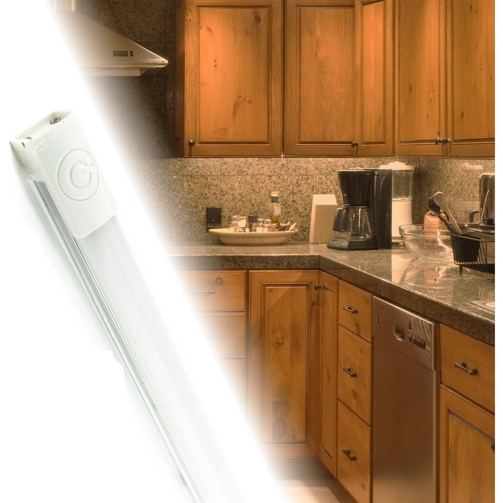 Cyron 12 In Led Neutral White Under Cabinet Light 4000k With Linear Touch On Off And Plug