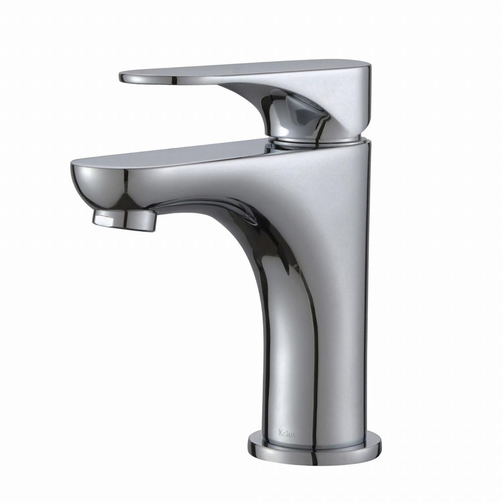 Kraus typhon single hole single handle high arc vessel Chrome single handle bathroom faucet