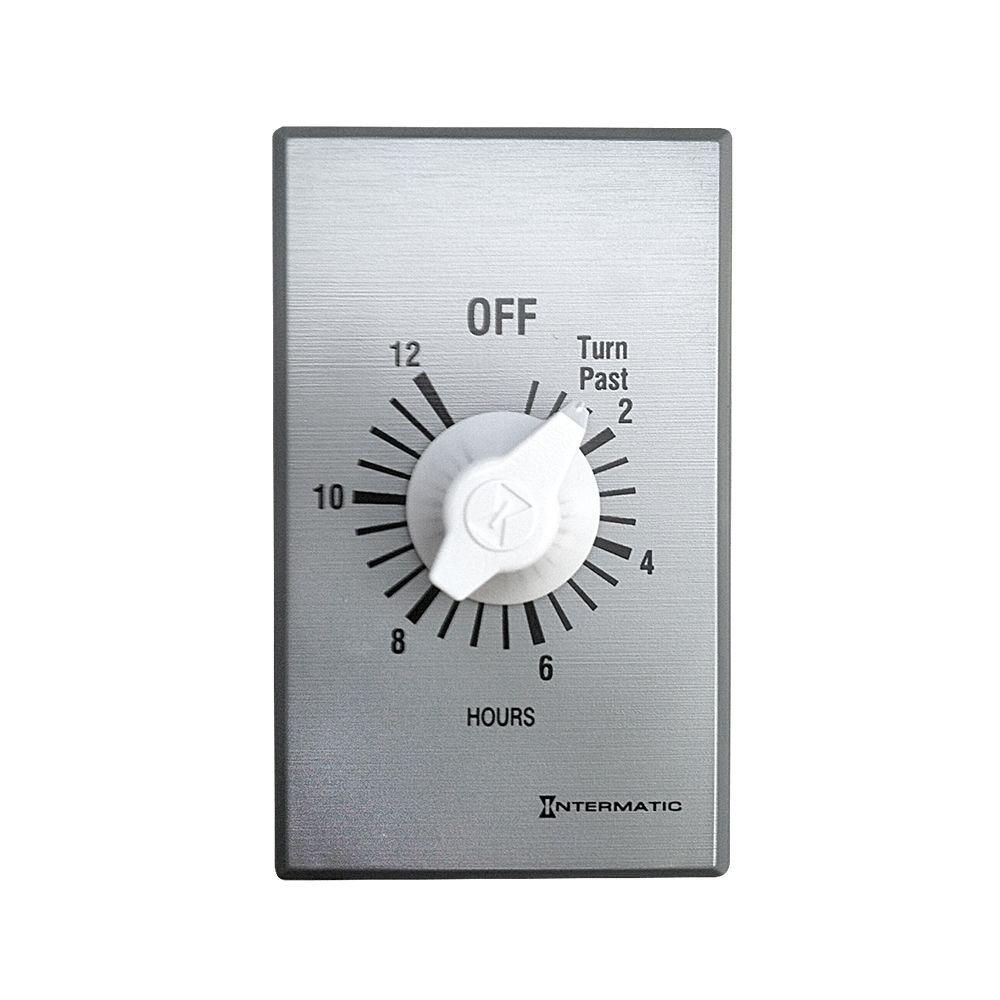 Timer Switch Bathroom Fan: Master Flow 12 Hour Whole House Attic Exhaust Fan Timer