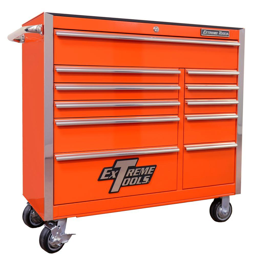 Extreme Tools EX Standard Series 41 in. 11-Drawer Roller Cabinet ...