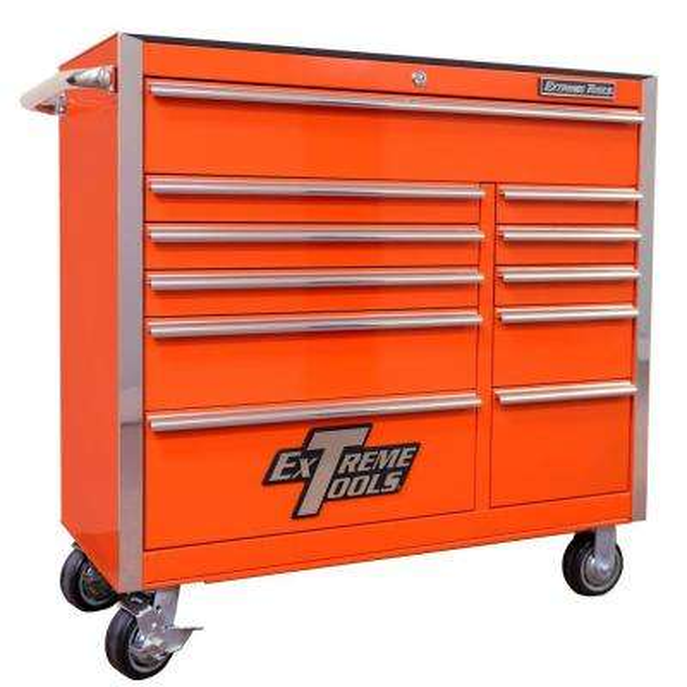 EX Standard Series 41 in  11-Drawer Roller Cabinet Tool Chest in Orange
