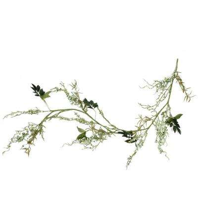 5 ft. Green Mixed Berry and Spring Floral Decorative Artificial Garland