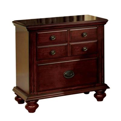 Cherry Finish Gabrielle II Transitional Night Stand