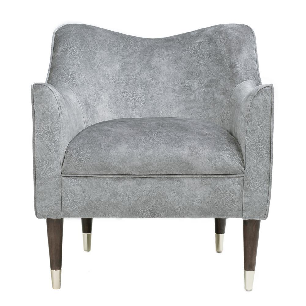 Fine Ceets Gray Isley Accent Arm Chair Ac057 Gy The Home Depot Squirreltailoven Fun Painted Chair Ideas Images Squirreltailovenorg