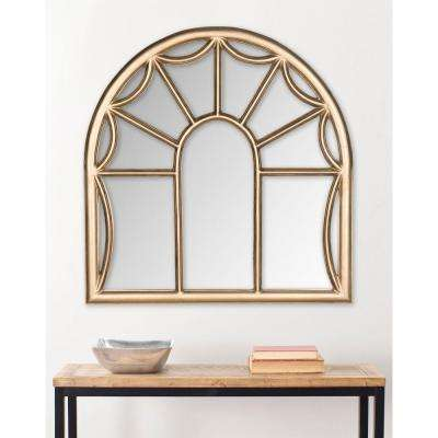 Palladian 33 in. x 32 in. Wood Framed Mirror