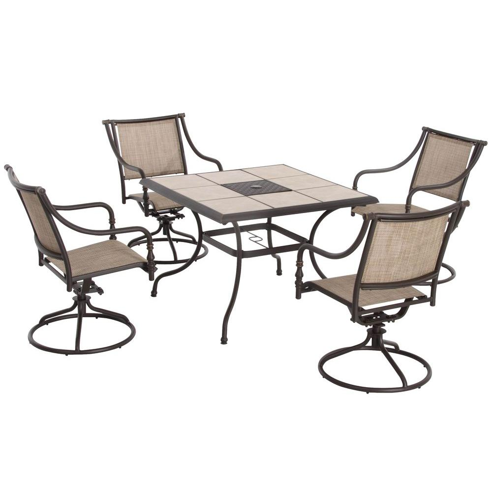 Hampton Bay Andrews 5-Piece Patio Dining Set