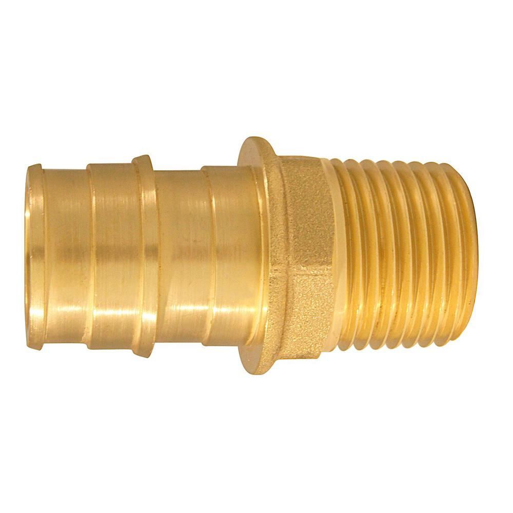 3/4 in. Brass PEX-A Barb x 1/2 in. MNPT Male Adapter