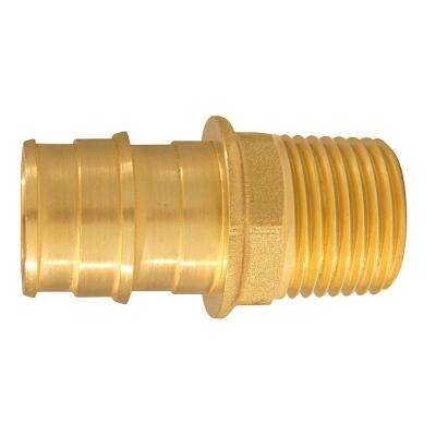 3/4 in. Brass PEX-A Expansion Barb x 1/2 in. MNPT Male Adapter