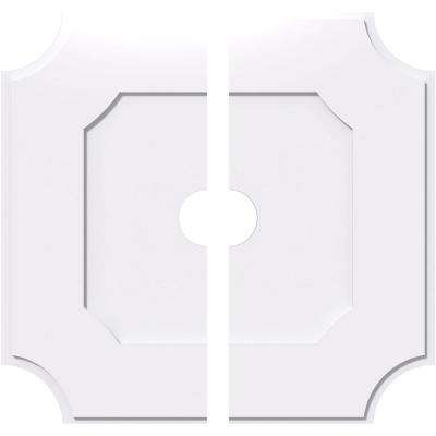 1 in. P X 21-1/2 in. C X 36 in. OD X 5 in. ID Locke Architectural Grade PVC Contemporary Ceiling Medallion, Two Piece