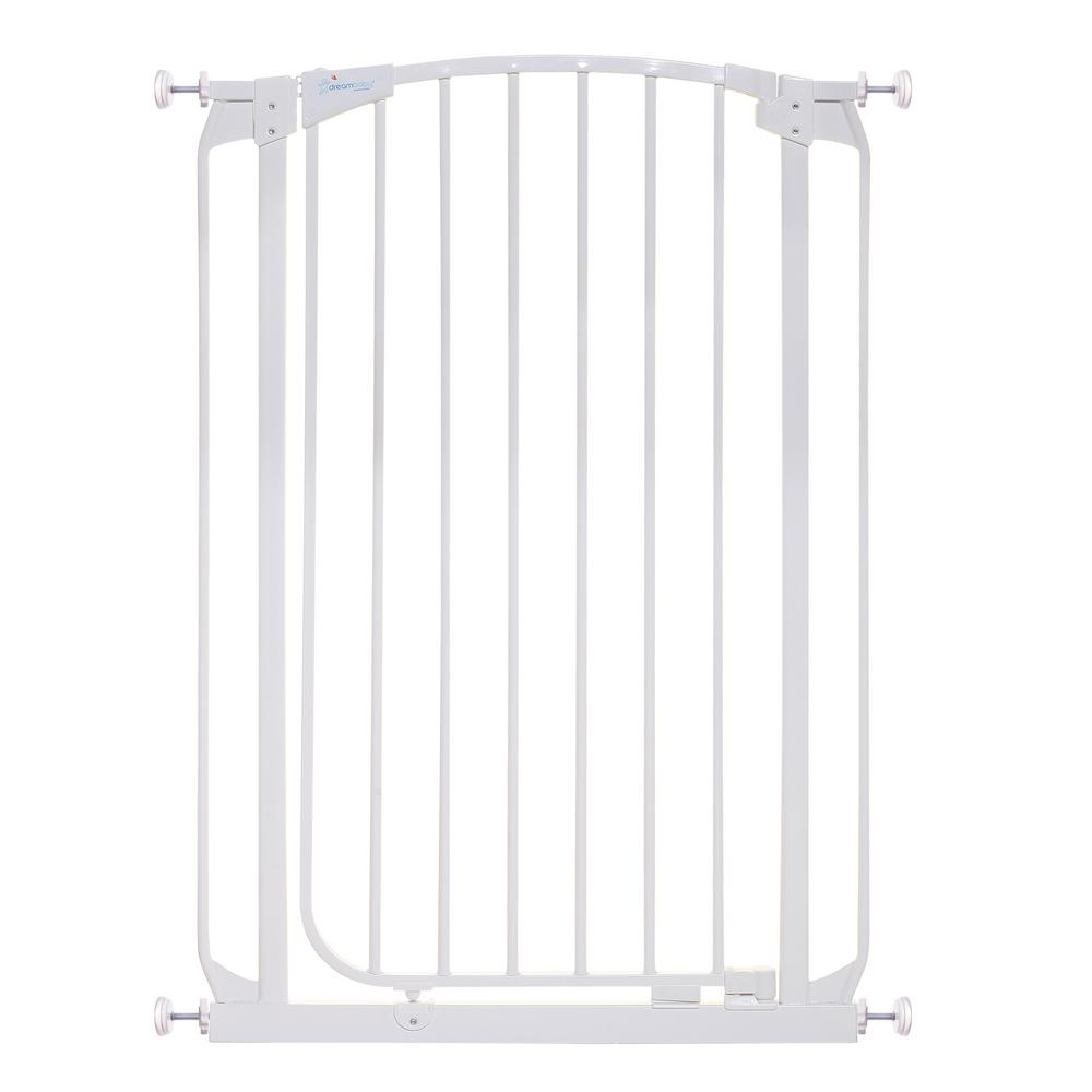 Dream Baby Chelsea 40 in. H Extra Tall Auto Close Security Gate in White