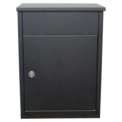 Allux 500 Black Wall Mount Locking Mail Parcel Drop Box