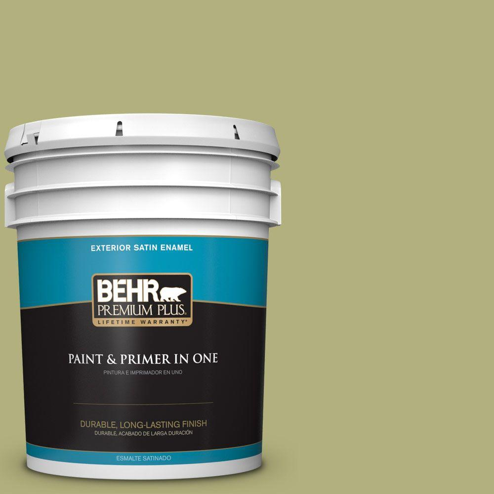 5-gal. #M340-5 Fresh Artichoke Satin Enamel Exterior Paint