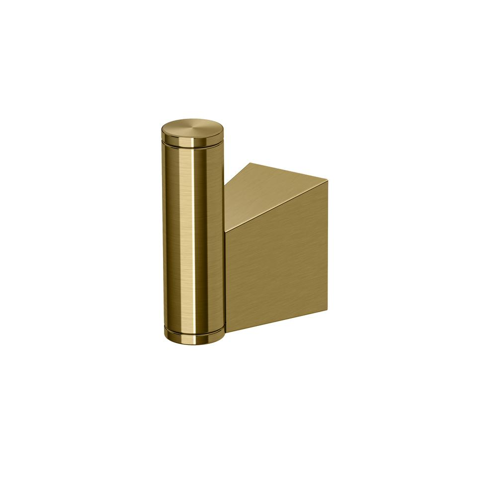 Bleu Single Robe Hook in Matte Brass